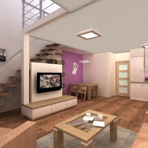 vizualizace obyvaciho pokoje